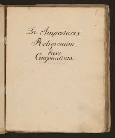 Cim I 59 — De Impostoris Religionum breve Compendium — 18. Jh.